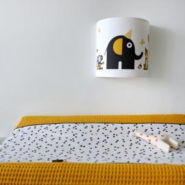 Wandlamp kinderkamer  dieren olifant - oker geel