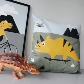 Kussen Dino kinderkamer - inclusief binnenkussen