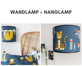 Lampen set  jungle kamer - donker blauw