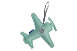 Vliegtuig hanger (mintgroen - grijs)