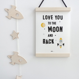 Poster kinderkamer - Love you to the moon