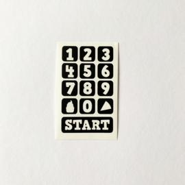 Ikea keukentje sticker magnetron knopjes