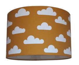 Lamp okergeel met wolken