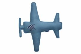 Vliegtuig knuffel (lichtblauw - donkerblauw)