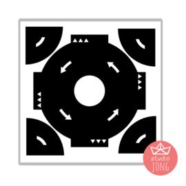 Sticker autobaan rotonde XL  - zwart