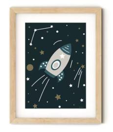 Poster ruimtevaart raket kamer
