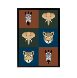 Poster kinderkamer - wilde dieren