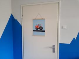 Poster tractor kinderkamer zoon Anniek
