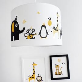 Lamp babykamer dieren - oker geel