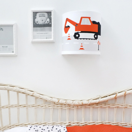 Wandlamp kinderkamer  voertuigen - terracotta rood (roest)