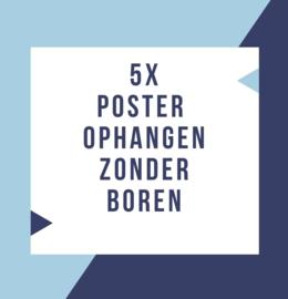 5 ideeën voor het ophangen van een poster zonder boren