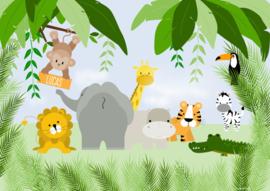 Poster jungle met naam