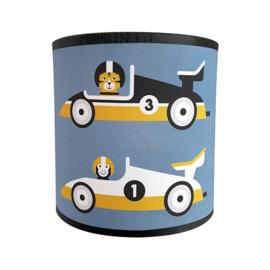 Wandlamp raceauto F1 kinderkamer - jeansblauw