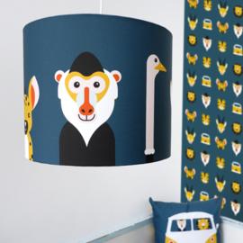 Lamp safari jungle dieren thema kamer - donkerblauw