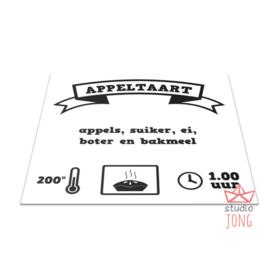 Ikea keukentje sticker appeltaart