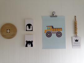 Poster kiepwagen babykamer Wendy