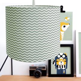 Lamp zigzag - bleek groen