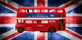 Strijkapplicatie London bus