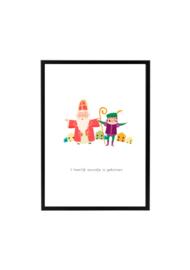 Poster Sinterklaas en Piet