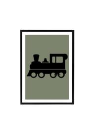 Poster kinderkamer trein (diverse kleuren)