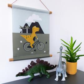 Textielposter dino kamer -dinosaurus kinderkamer