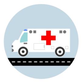 Behangcirkel kinderkamer - ziekenauto