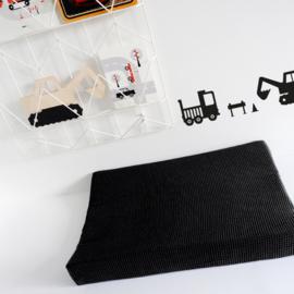 Aankleedkussenhoes babykamer wafelstof zwart - basic