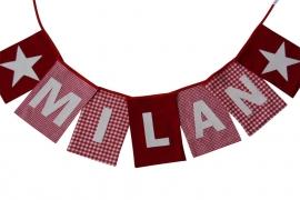 Naamslinger MILAN (rood-wit)