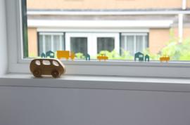 Autobaan sticker uitbreidingsset huisjes donkergrijs