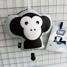 Muziekhanger aap - baby kinderkamer mint