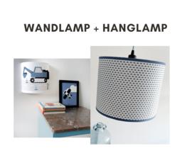 Lampen set - graafmachine & maantjes jeansblauw