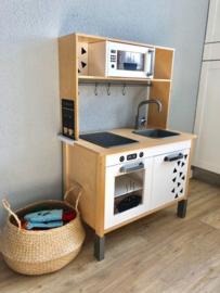 Ikea duktig speelkeuken van Linda met magnetron + oven + koffiezetapparaat  sticker