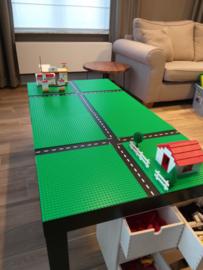 Lego tafel met autobaan stickers