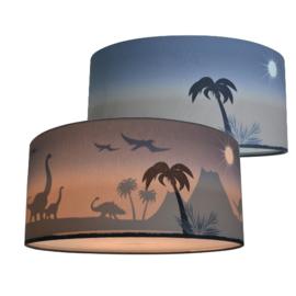 Plafondlamp dinosaurus kamer - silhouet