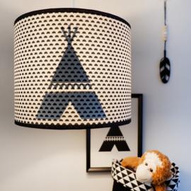 Kinderkamer lamp silhouet tipi - diverse kleuren + stof prints