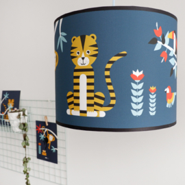 Lamp jungle kinderkamer - donkerblauw