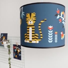 Lampen set  jungle kamer - donker blauw