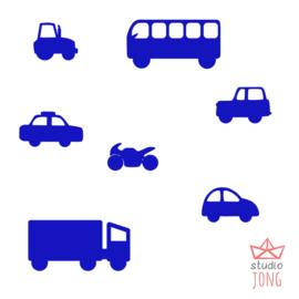 Autobaan sticker uitbreidingsset voertuigen felblauw