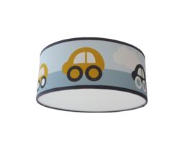 Lamp auto blauw okergeel