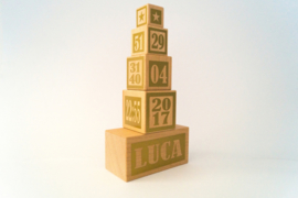 Geboorteblokken - kleur goud