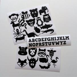 Muursticker dieren ABC