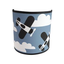 Wandlamp vliegtuigen -  jeans blauw