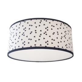 Plafondlamp triangel zwart wit