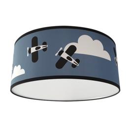 Lamp vliegtuig kinderkamer - jeans blauw