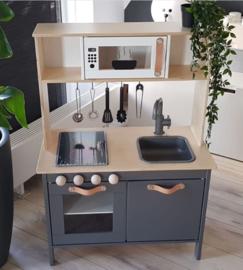 Ikea keukentje grijs van Diana