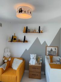 Babykamer oker geel - grijs van Rosanne