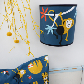 Wandlamp kinderkamer met jungle aap - donkerblauw