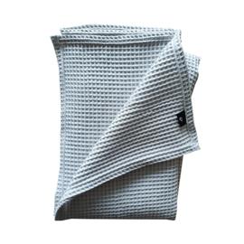 Ledikantdeken wafelstof grijs - basic
