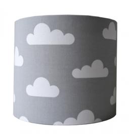 Wandlamp grijs met wolken