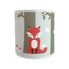 Wandlamp kinderkamer  vos - mint - terracotta rood